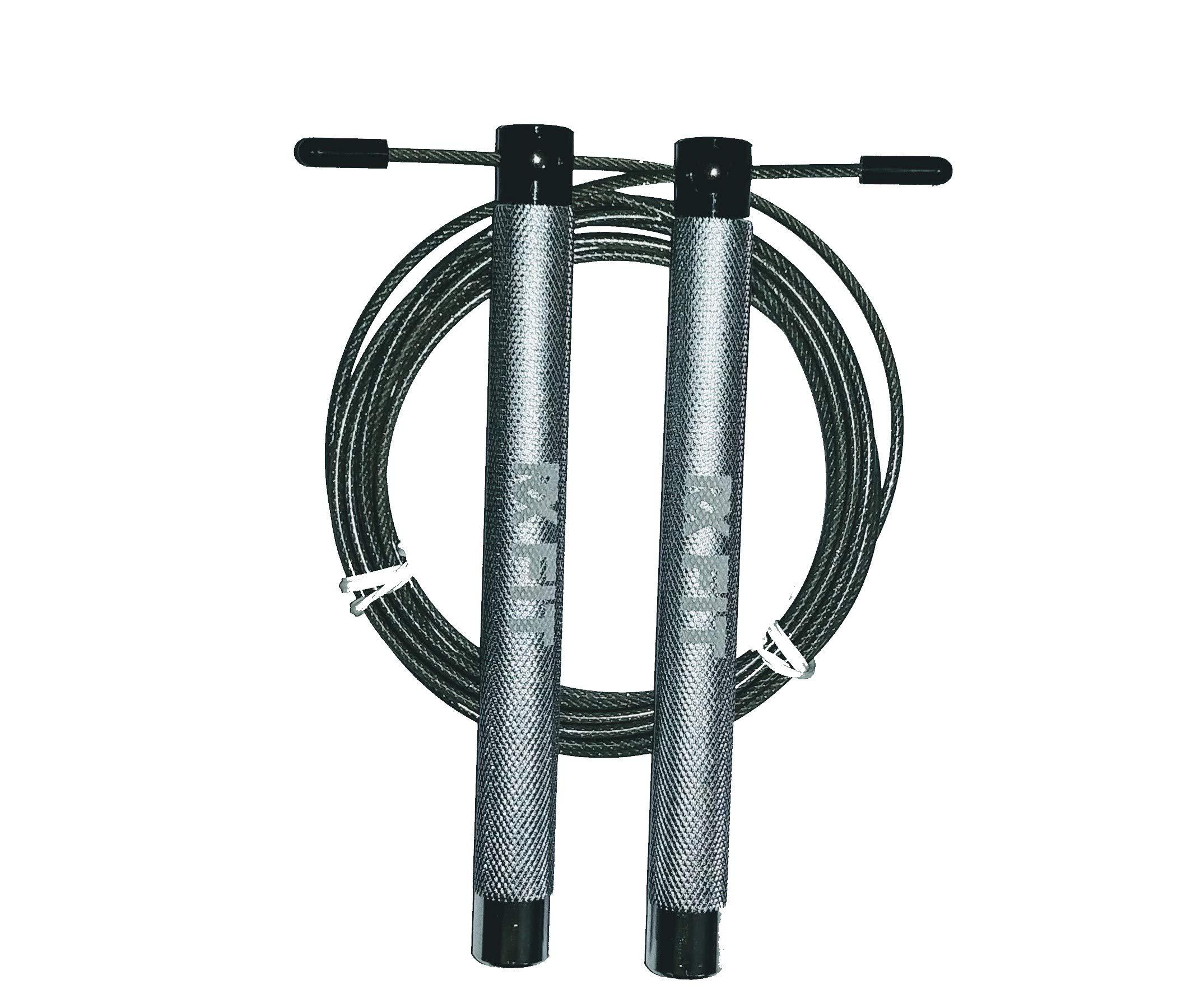 RxFIT Light Aluminum Handled Crossfit Jump Rope (Silver)