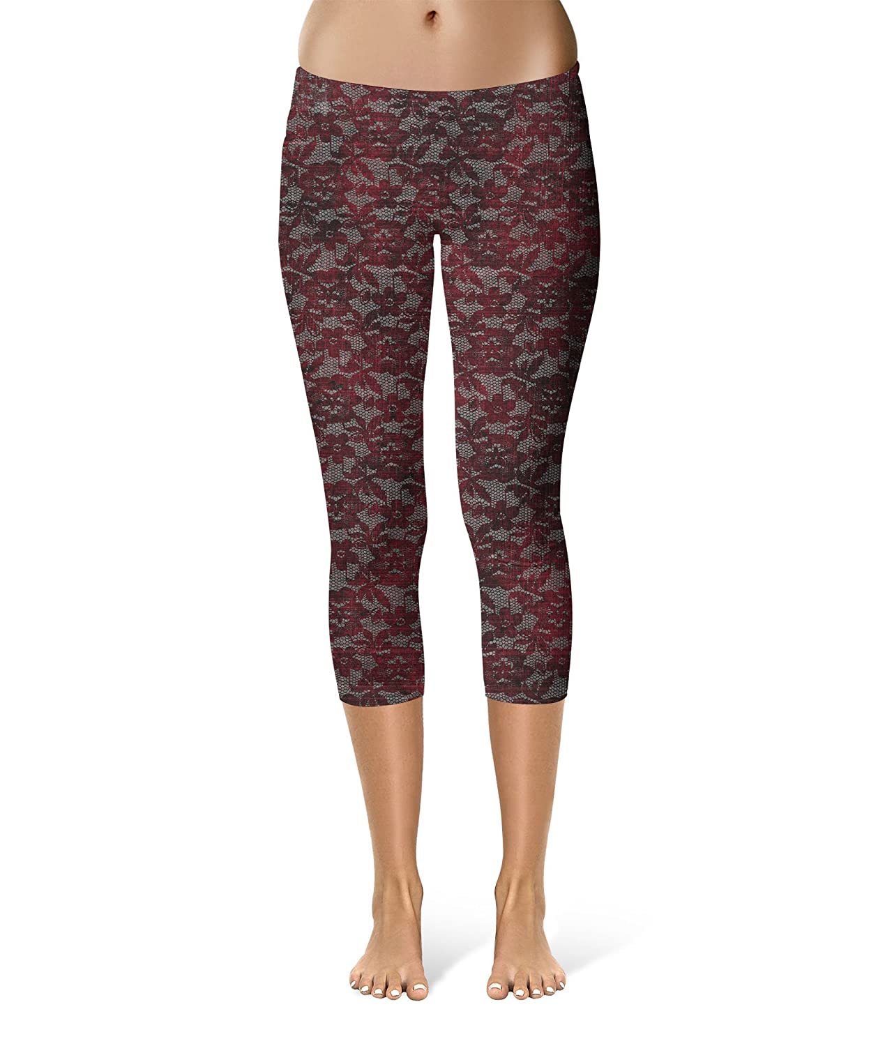 Queen of Cases Blood Red Lace Kids Capri Leggings