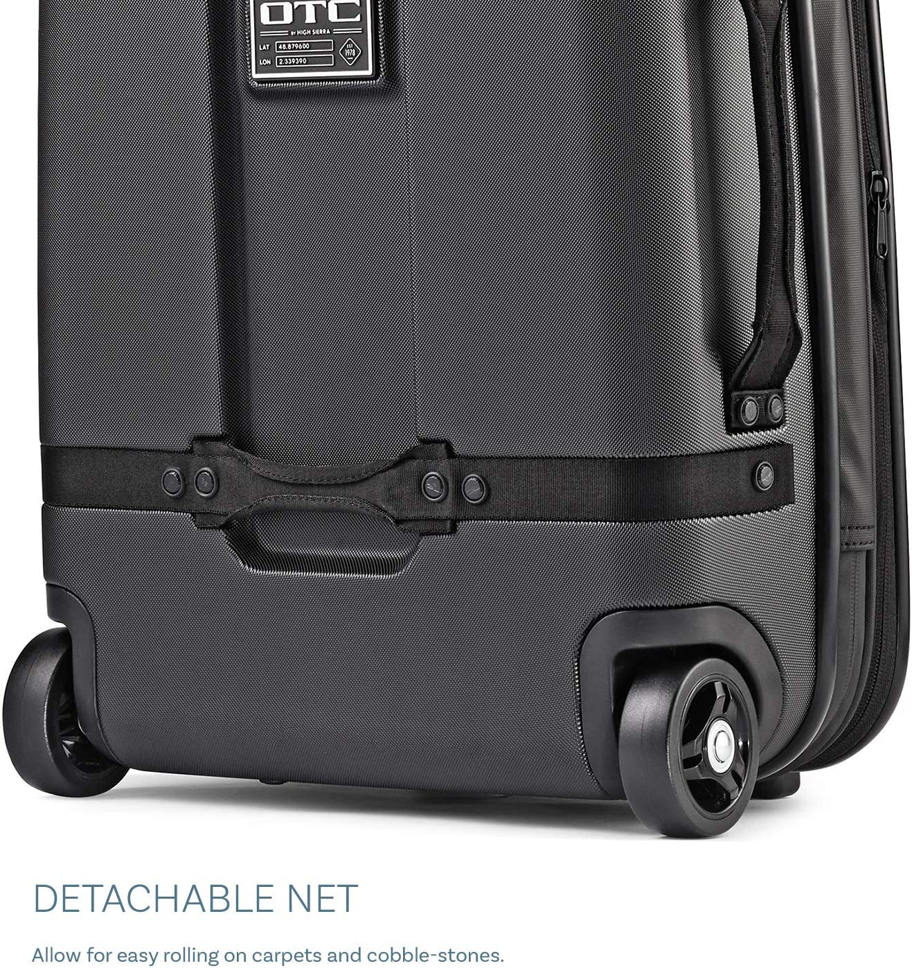 High Sierra OTC 30-Inch Expandable Carry-On Upright Hardsided Suitcase Luggage with Wheels Large 30-inches