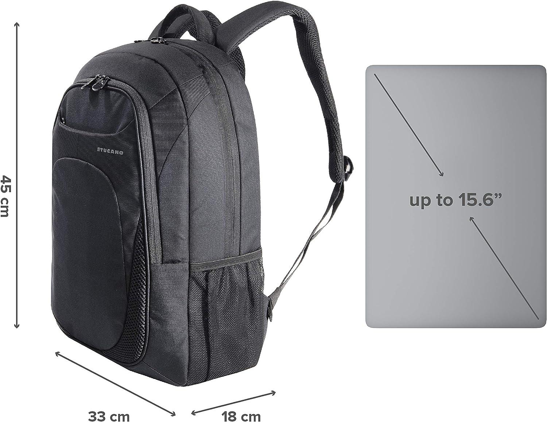 Homme et femme Pour voyages et universit/é iPad et Tablette MacBook Tucano-Sac /à dos pour le travail pour ordinateur 15.6 pouces Backpack pour Pc avec poche pour ordinateur Bande trolley