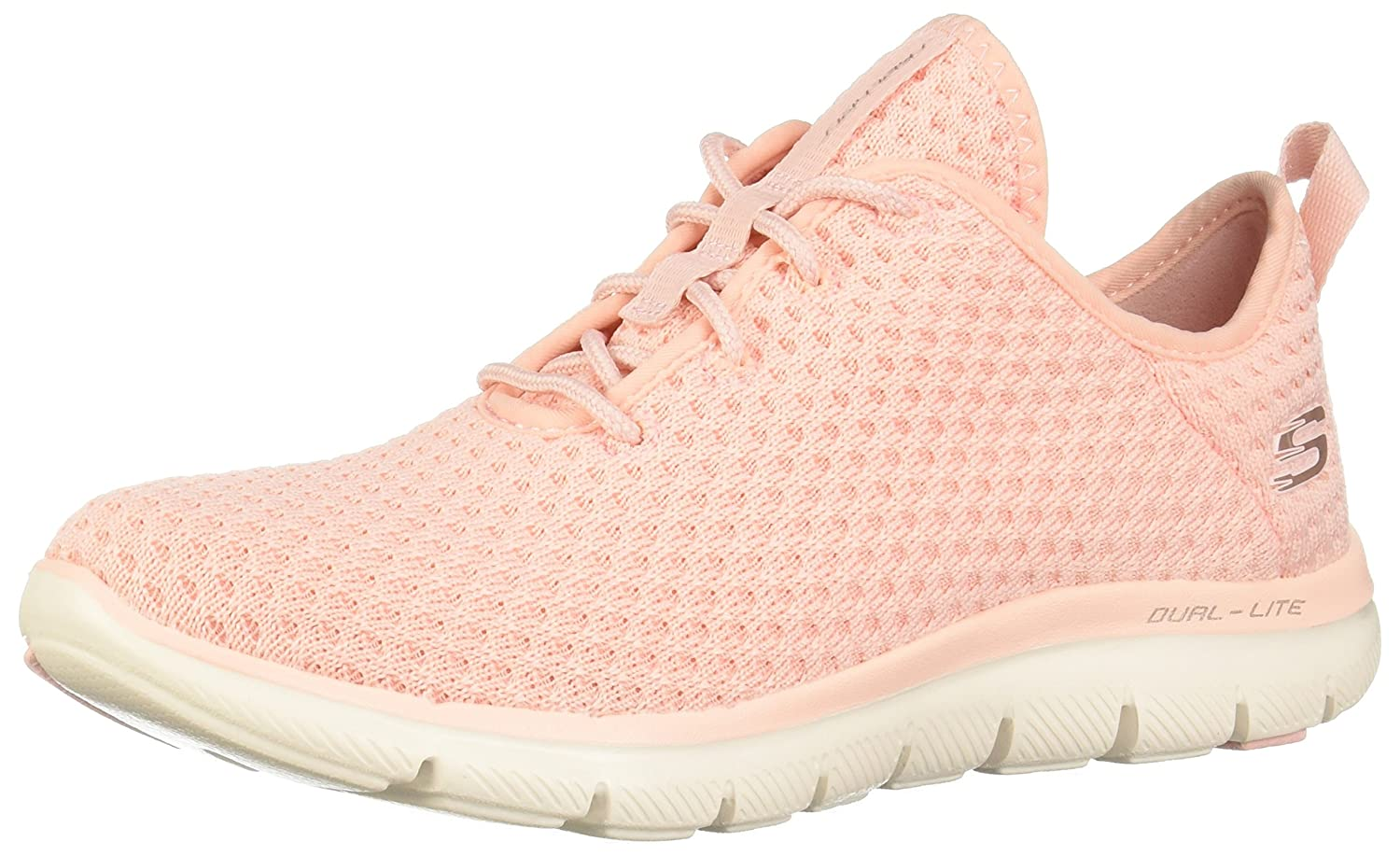 Skechers Sport Women's Flex Appeal 2.0 Bold Move Fashion Sneaker B074S6GR1V 7 B(M) US|Light Pink