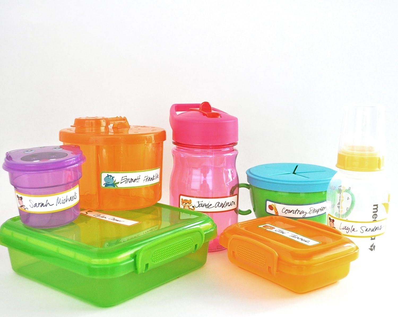 Animal Friends Write-On Daycare Waterproof Labels Self-Laminating Bottle Labels