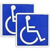 ポケット(Pocket) 国際シンボルマーク 車椅子マーク ステッカー マグネット タイプ 2枚セット