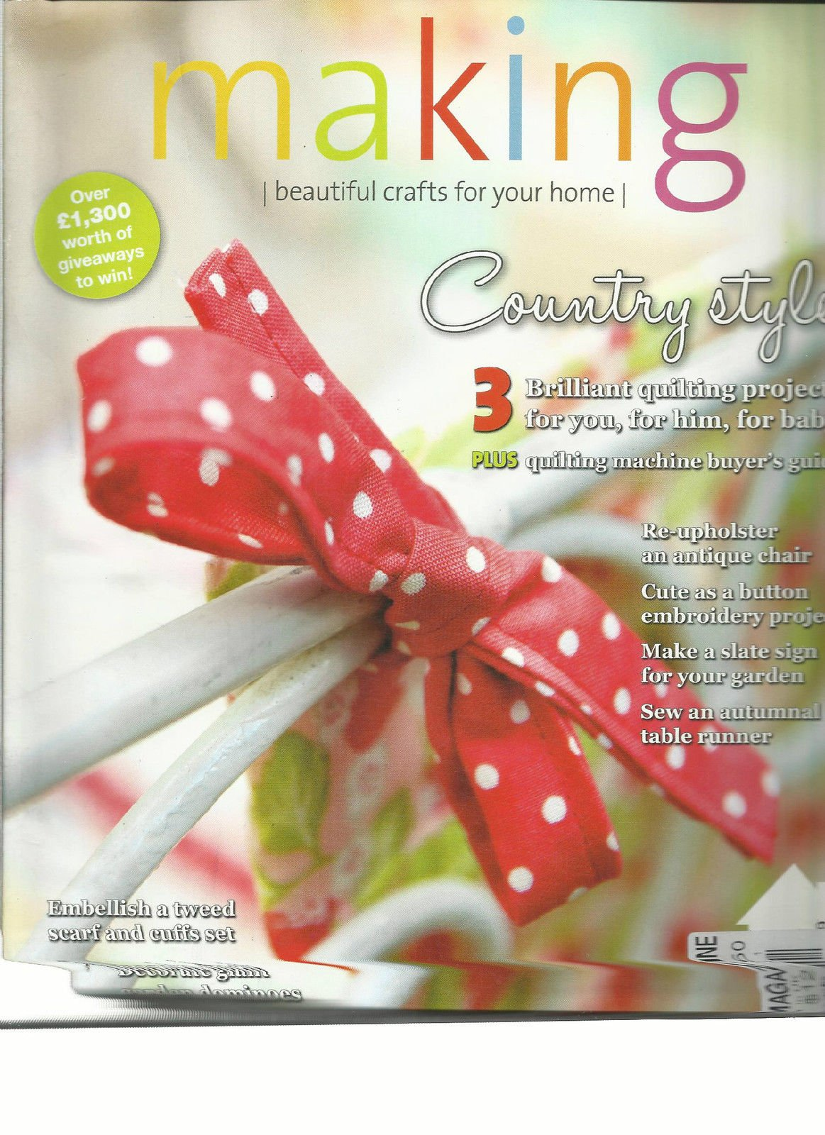 MAKING, BEAUTIFUL CRAFTS FOR YOUR HOME, NOVEMBER, 2011 (COUNTRY STYLE)