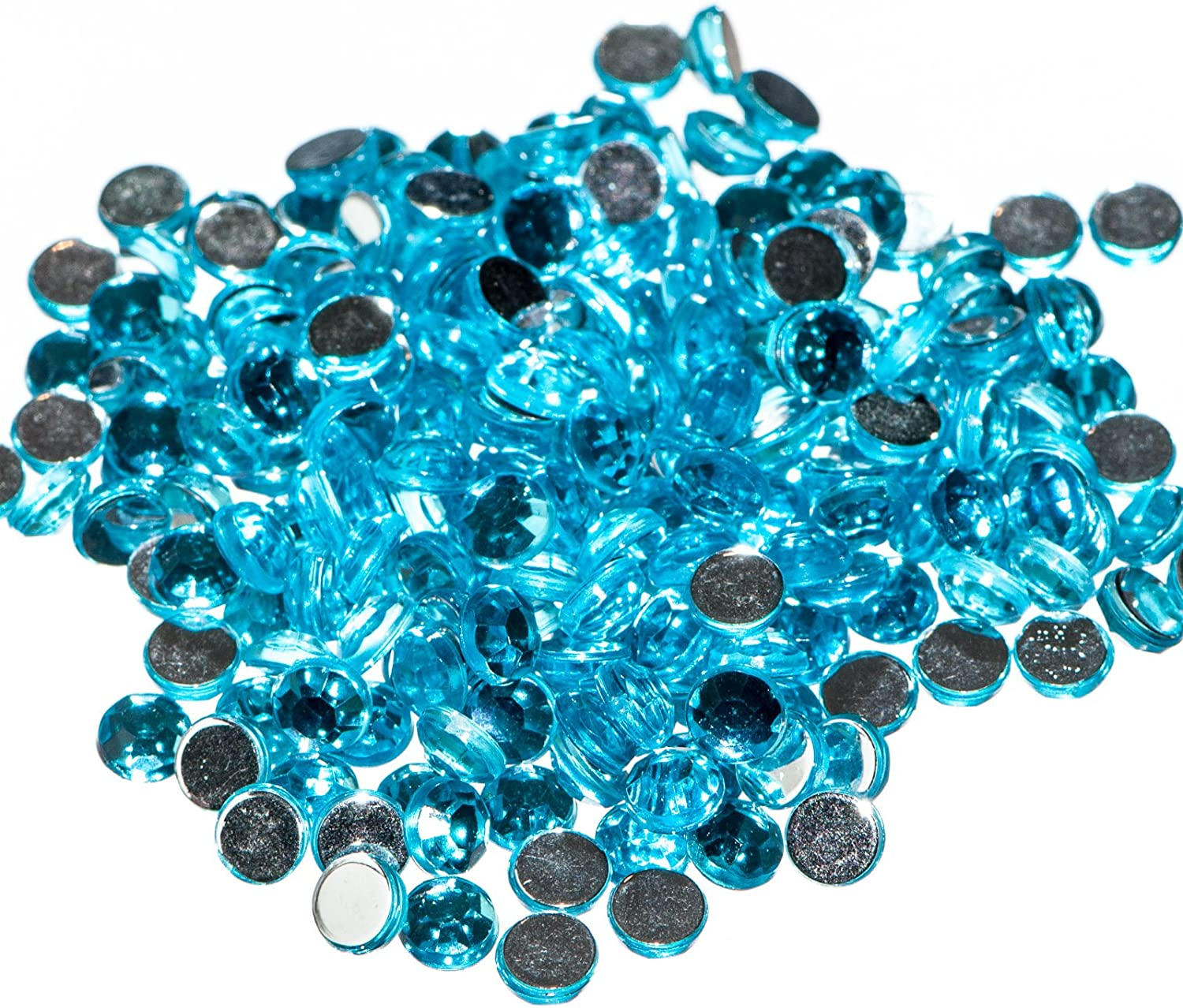 CRAFTS AQUA MARINE 4mm RESIN FLAT BACK RHINESTONES DIAMANTE GEMS FOR NAIL ART