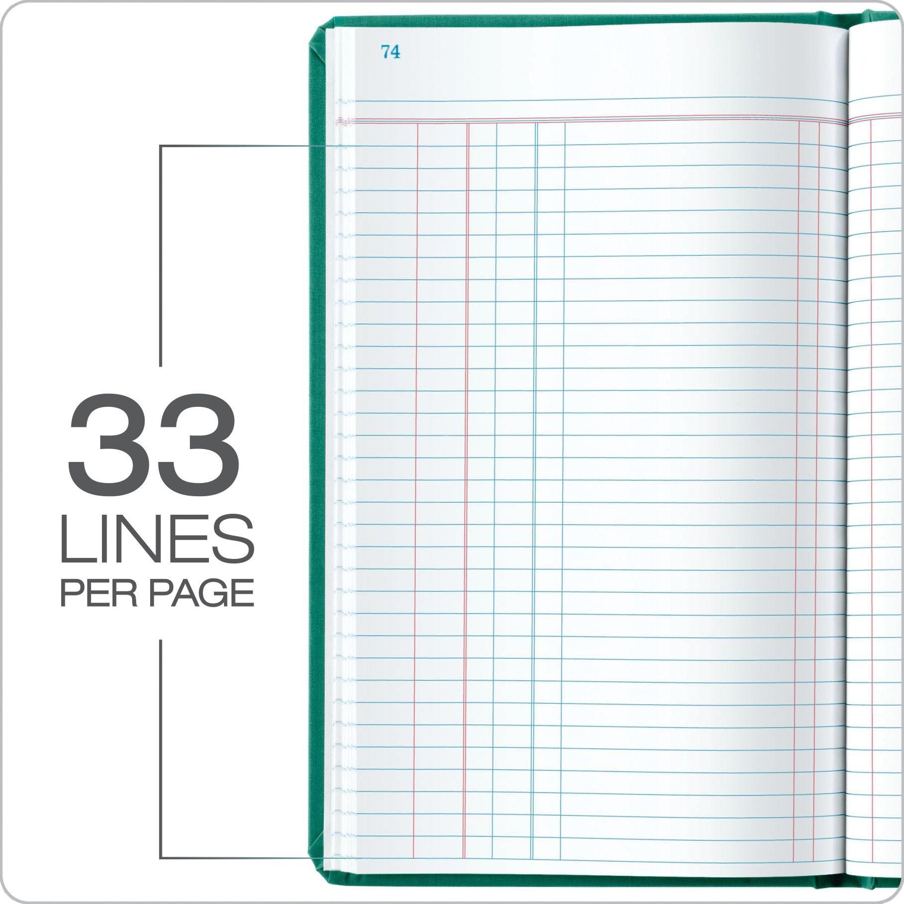 Boorum & Pease 66 Series Account Book, Journal Ruled, Green, 500 Pages, 12-1/8'' x 7-5/8'' (66-500-J) by Boorum & Pease (Image #4)