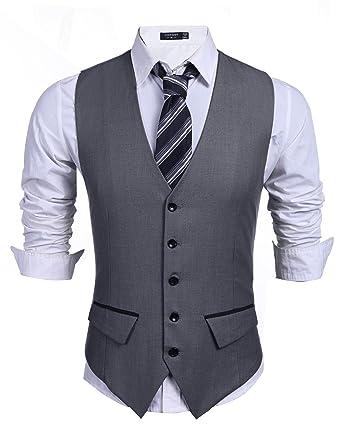 prix bas paquet à la mode et attrayant conception de la variété Wixens Homme Gilet Costume Slim Fit Veste Casual et Business
