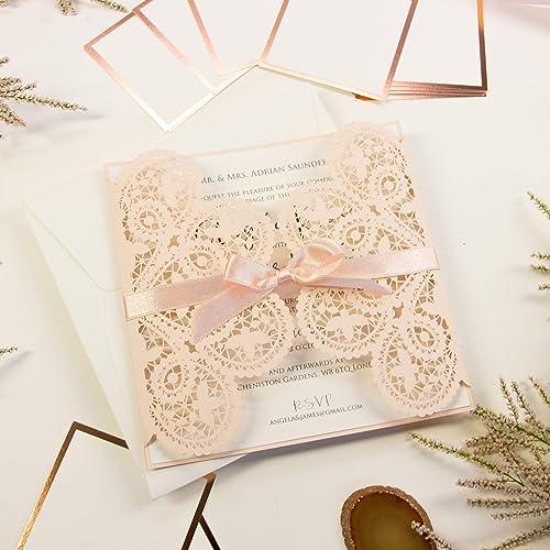 Lasergeschnittene Hochzeit Einladungskarten Gebustag