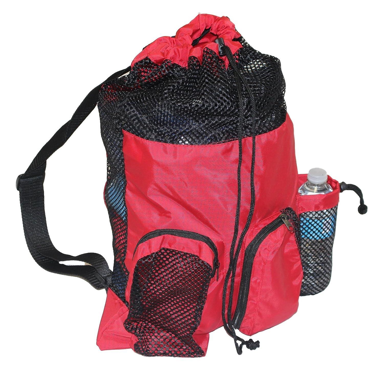 adoretex Big Mesh equipo deporte cordón Gimnasio Bolsa De Natación, Talla única, Rojo/Negro: Amazon.es: Deportes y aire libre