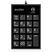 Perixx PPD-202UB-11251 Numeric Keypad for Laptop USB Tab Key Feature, Full Size, Black