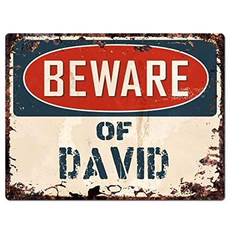 Shunry Beware of David Placa Cartel Vintage Estaño Signo ...