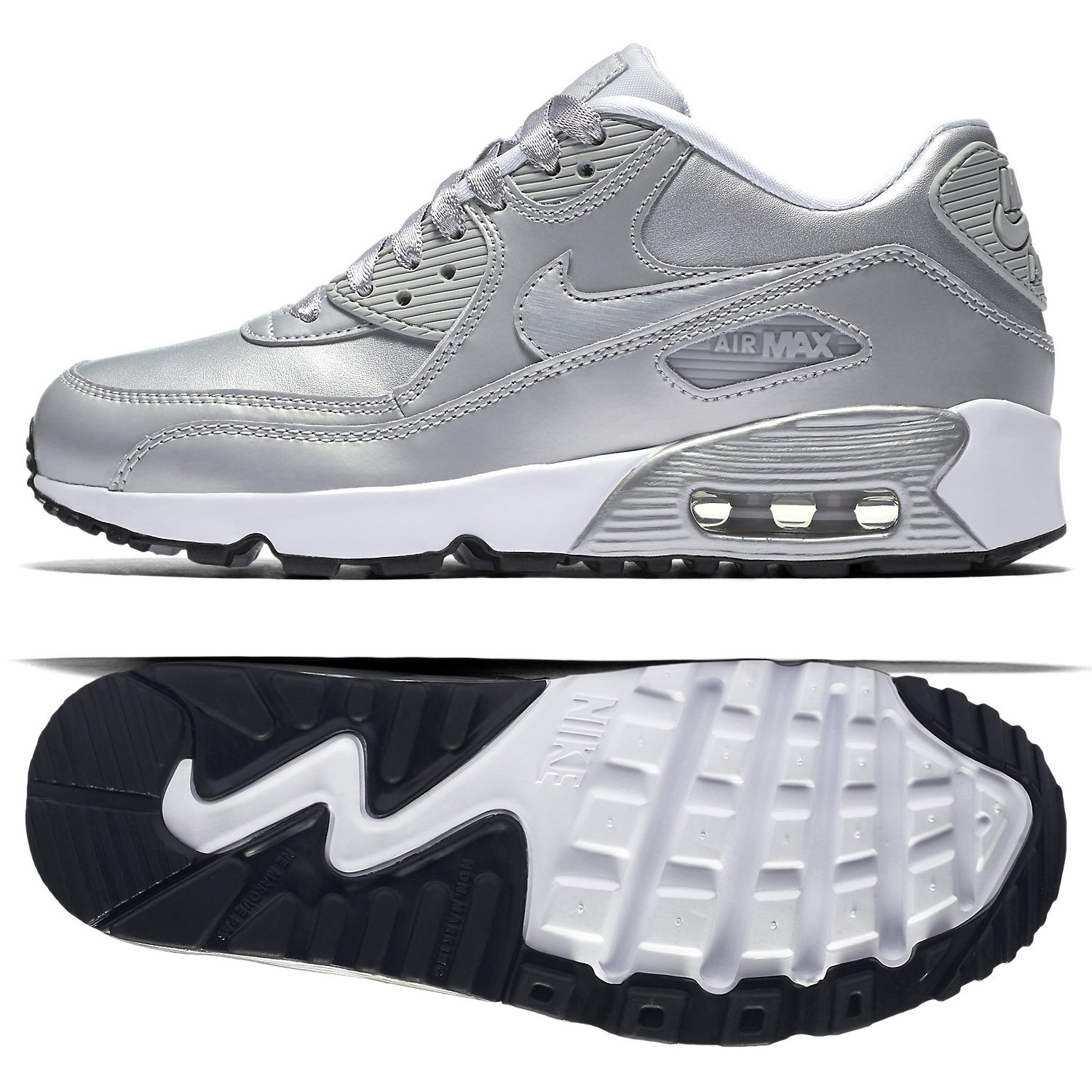 best service 24033 f2b75 Galleon - Nike Air Max 90 LTR GS Running Shoe (Size 5.5Y)