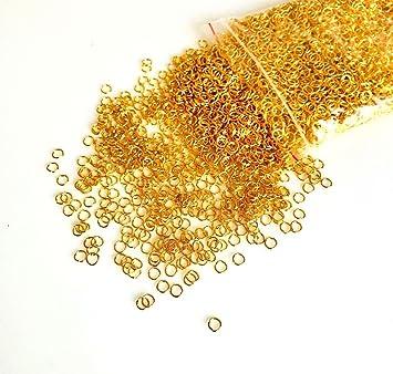 100% d'origine remise pour vente vraiment à l'aise Angel Malone Bulk Acheter 4000 x 5 mm doré Anneaux Bijoux ...