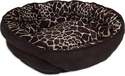 Aspen Pet 24 X 19 Oval Pet Bed, Giraffe Print