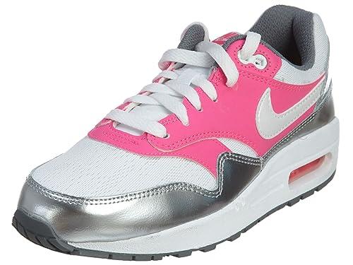 Buy Nike Air Max 1 Gs Big Kid Running Fashion Sneaker White White Pink Pow Cool Grey 6 M Us Big Kid At Amazon In