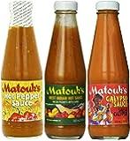 Matouk's Hot Sauce Combo-Calypso, West Indian & Hot Pepper Sauce(Pack of 3)