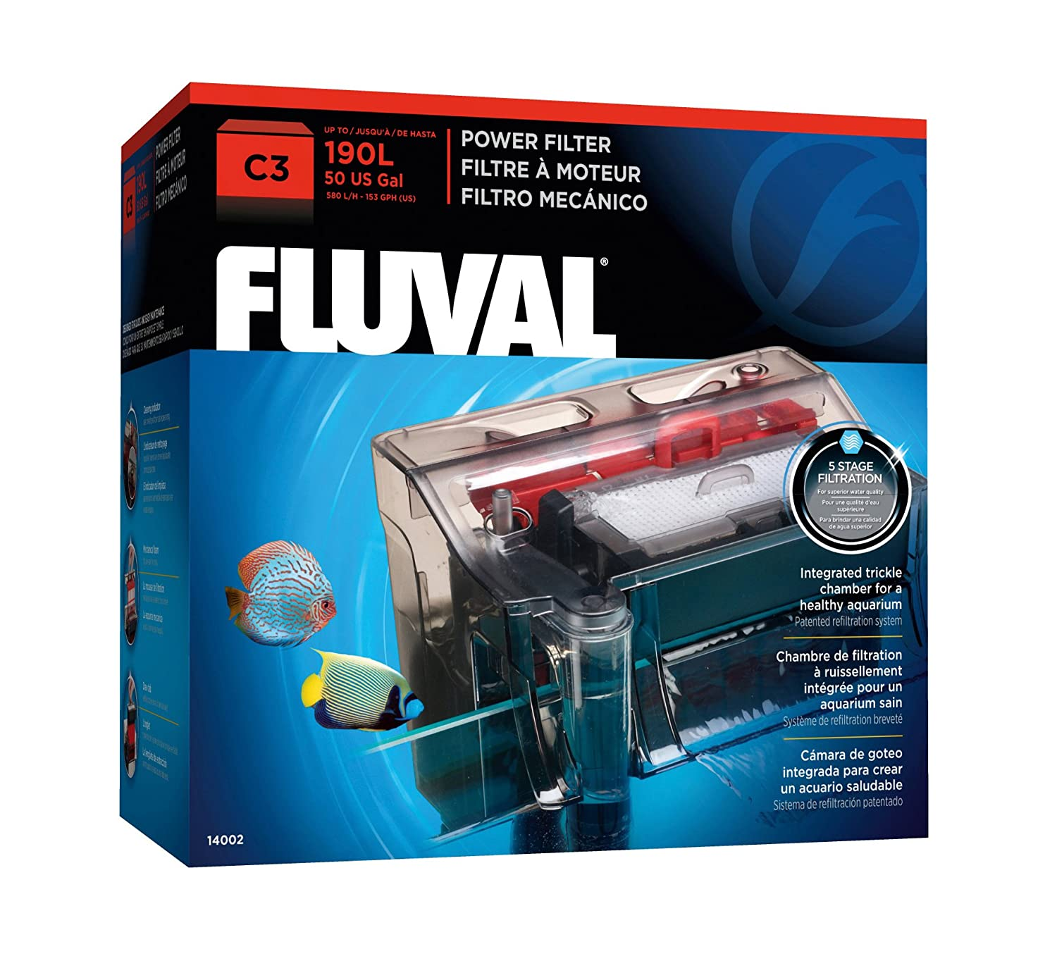 Amazon Fluval C3 Power Filter Aquarium Filters Pet Supplies