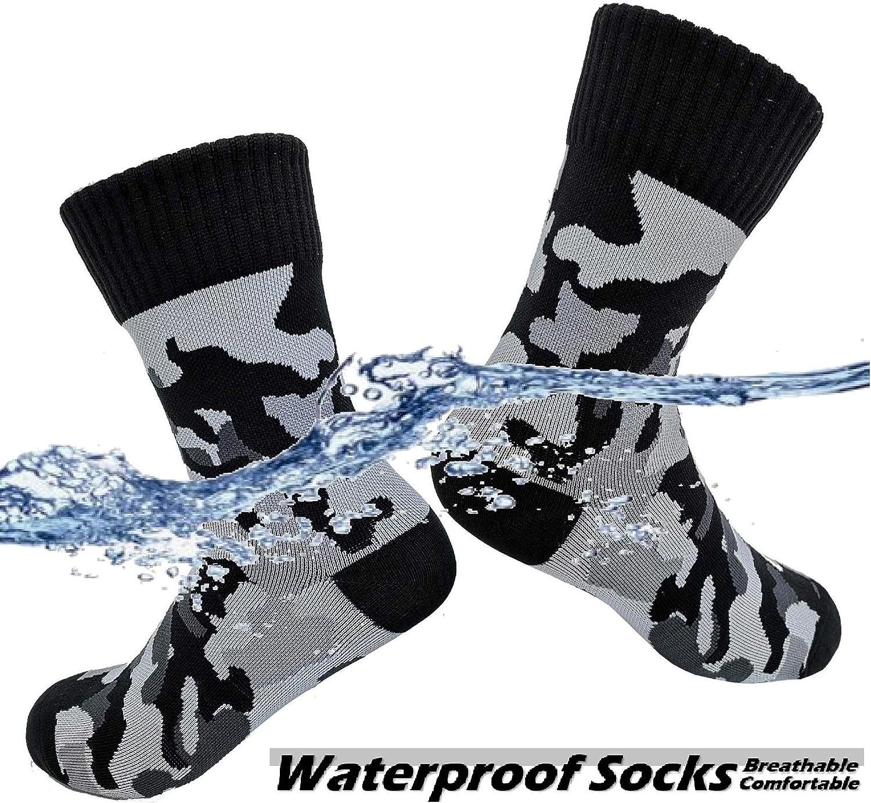 HIGHCAMP SGS Certified Waterproof Socks for Men /& Women - Copper Infused Waterproof Hiking Trekking Boot Socks