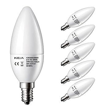LED FACTORY 5W E14 LED Lampen 400lm, Warmweiß, Ersatz Für 50W Glühlampen,  2800K