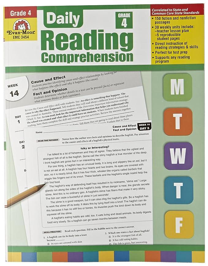 Amazon com: Evan Moor Book Daily Reading Comprehension - Grade 4