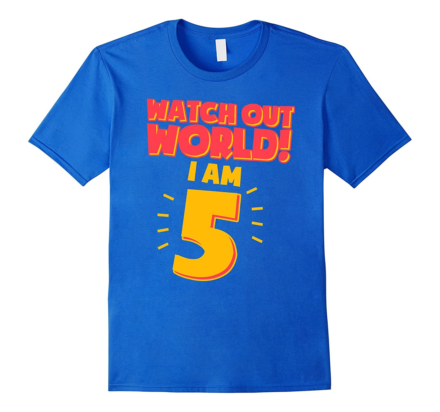 5th Birthday Shirt Boy Watch Out World I Am 5 RT