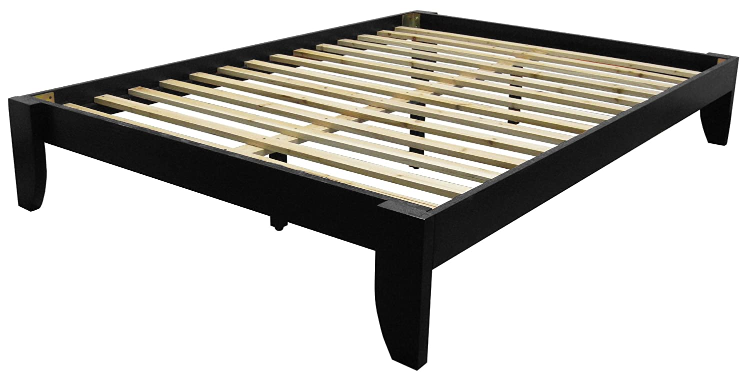 Amazon.com: Stockholm Solid Wood Bamboo Platform Bed Frame, King ...