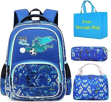 Mochila Escolar Niños Dinosaurio Linda Set de Mochilas con Estuche de Lápices para Infantil Adolescentes Las Viaje Bolsa para la Escuela Primaria 2 en 1 Casual Backpack School Bag (Azul1): Amazon.es: Equipaje