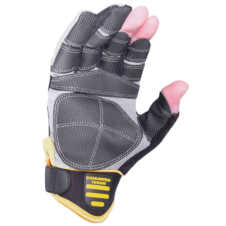 Leather work gloves screwfix - Dewalt Finger Framer Power Tool Glove Grey Black Large Size 9 1 2 10 Amazon Co Uk Business Industry Science