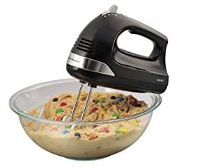 Hamilton Beach Hand Mixer with Snap-On Case (62635), Black