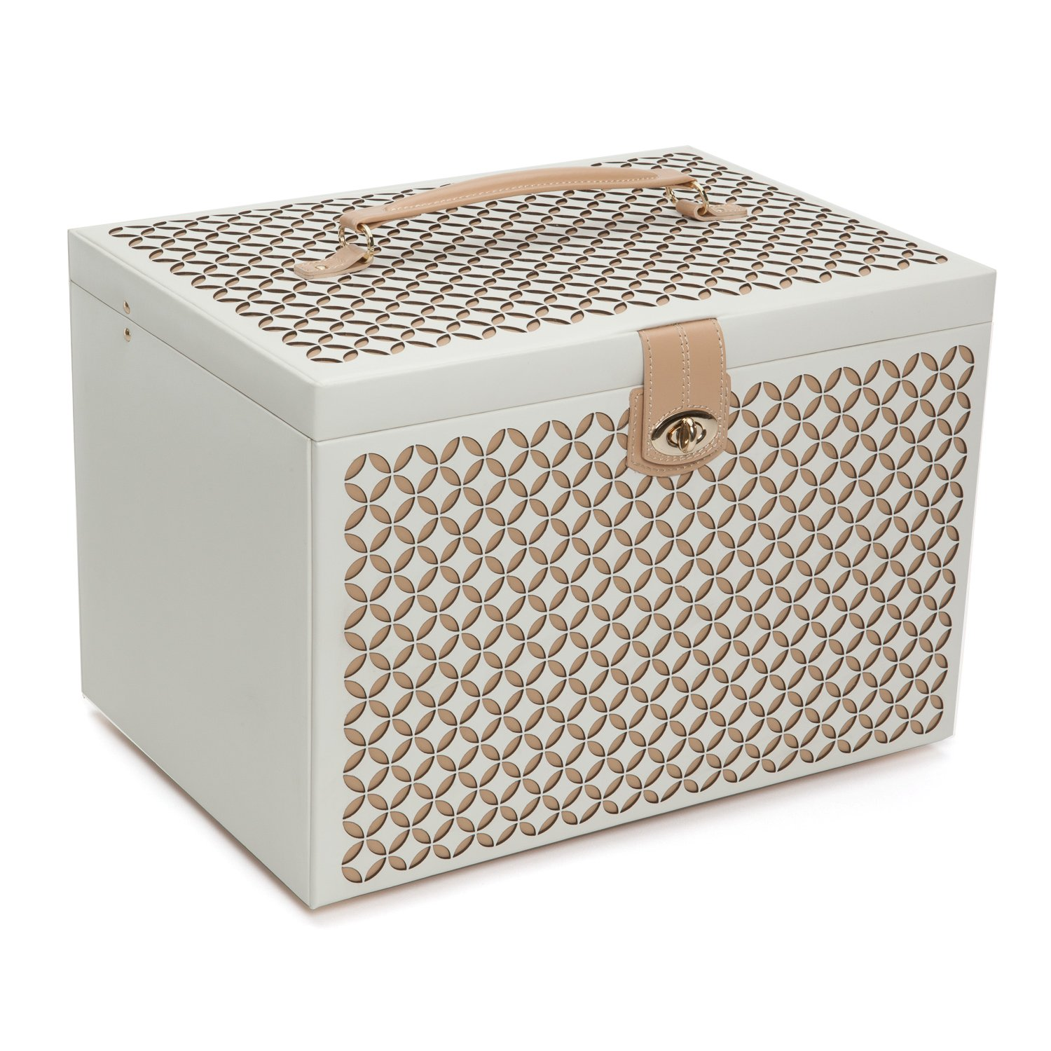 WOLF 301653 Chloe Extra Large Jewelry Box, Cream by WOLF