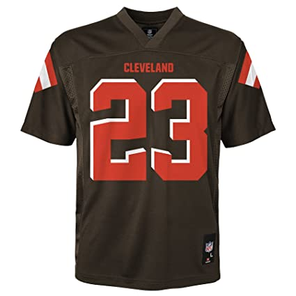 brand new 91af2 61da7 NFL Youth Boys 8-20 Joe Haden Cleveland Browns Player Name & Number Jersey,  Large/(14-16), Brown Suede