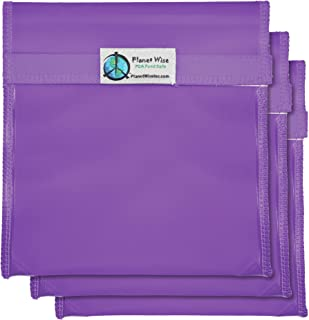 product image for Planet Wise Tint Quart Bag - 3-Pack - Hook and Loop (Purple)