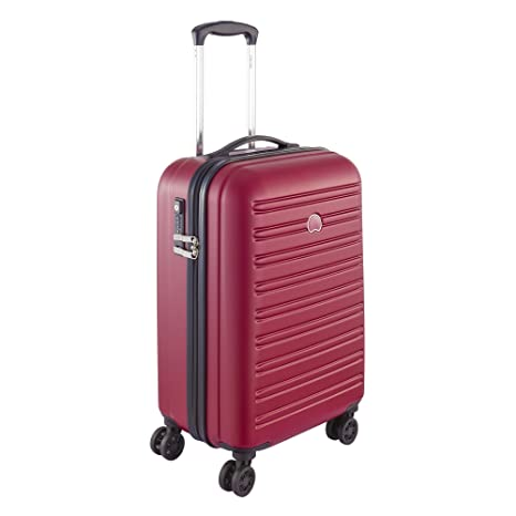 Amazon.com | Delsey Paris Segur Hand Luggage, 55 cm, 43 liters, Red (Rouge) | Carry-Ons