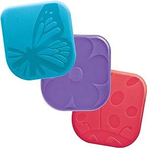 Tovolo Nylon Spring Bugs Pan Scrapers, Scratch-Free Nylon, Dishwasher Safe - Set of 3