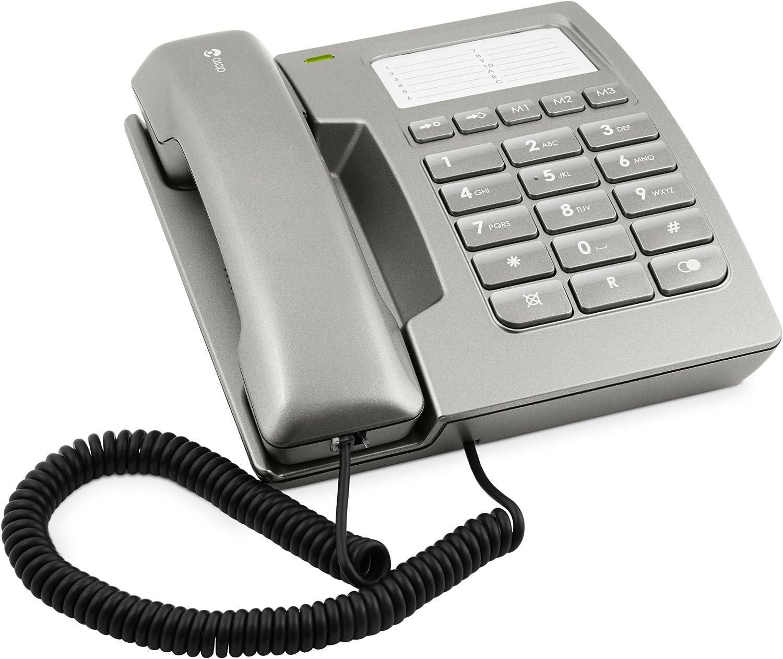 Doro Matra D912C - Teléfono fijo con teclas extragrandes, color gris (importado): Amazon.es: Electrónica