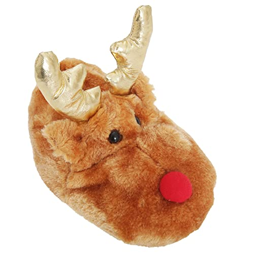 4bc61a44541c Kids Childrens Novelty Reindeer Slippers