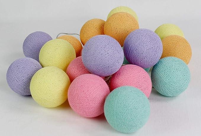 Cotton Ball Lights Ice Cream 20, algodón, Soft Yellow de Soft ...