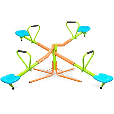 Pure Fun 9334KS 360 Quad Swivel Kids Seesaw, Indoor or Outdoor, Ages 3 to 10, Multi: Sports & Outdoors