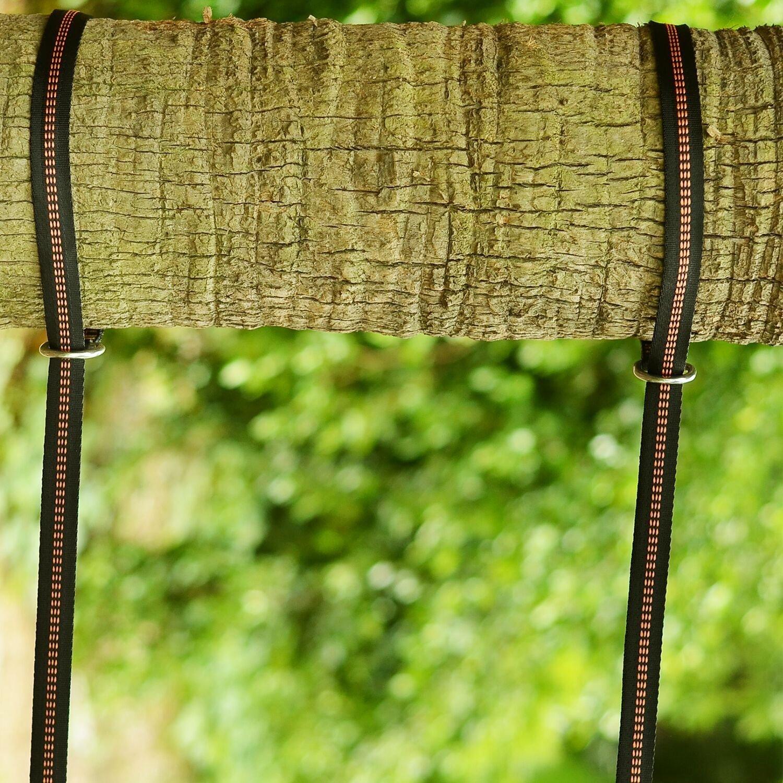 Veego Hängematte Träger, Hängematte Baum Träger 2000 + lbs Heavy Duty Leicht 100% mit Stretch, Suspension System Kit XL Lang mit 40 Verstellbaren Schlaufen und 2 Karabiner für Camping, Wandern