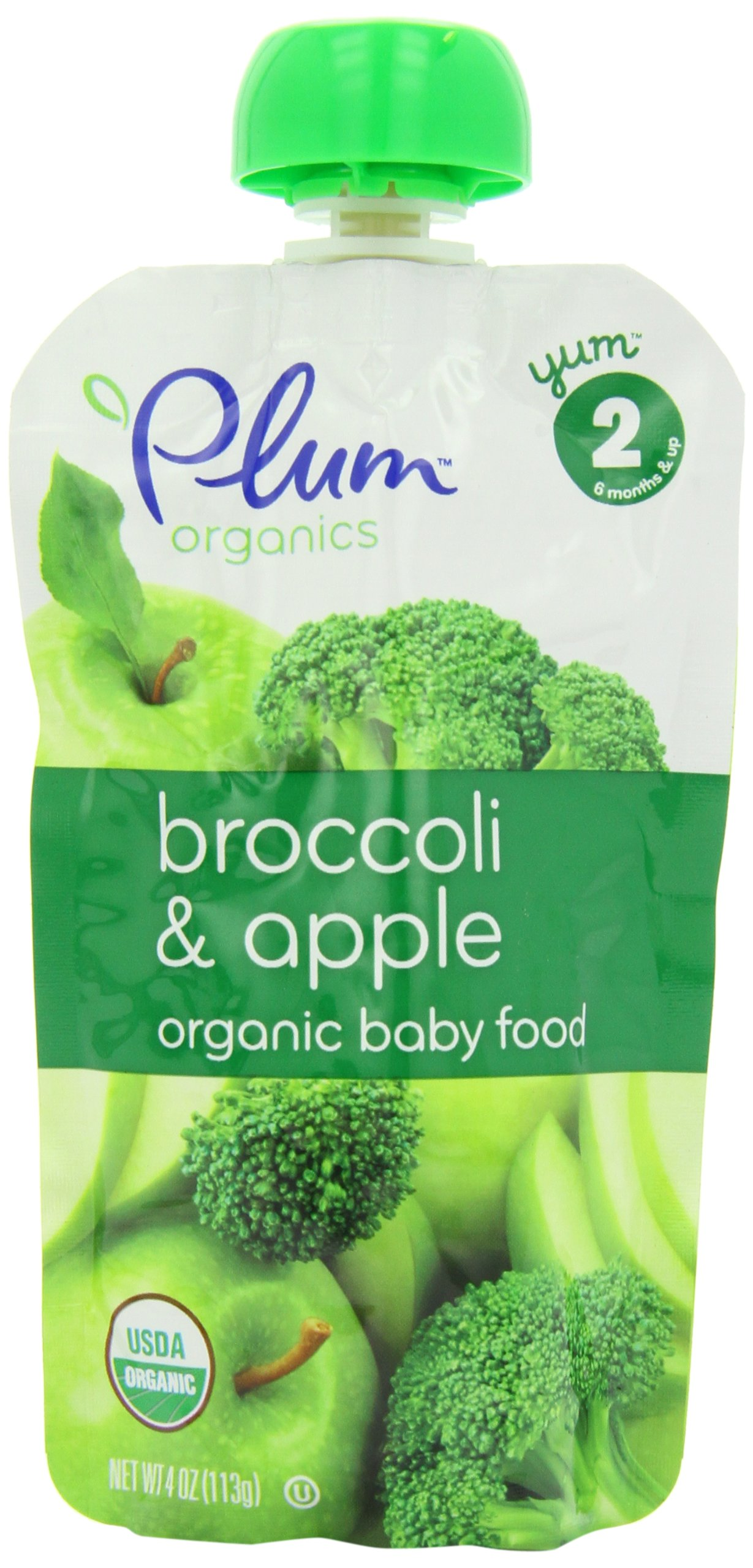 Plum Organics Baby Broccoli Apple, 4.22-Ounce Pouches (Pack of 24)