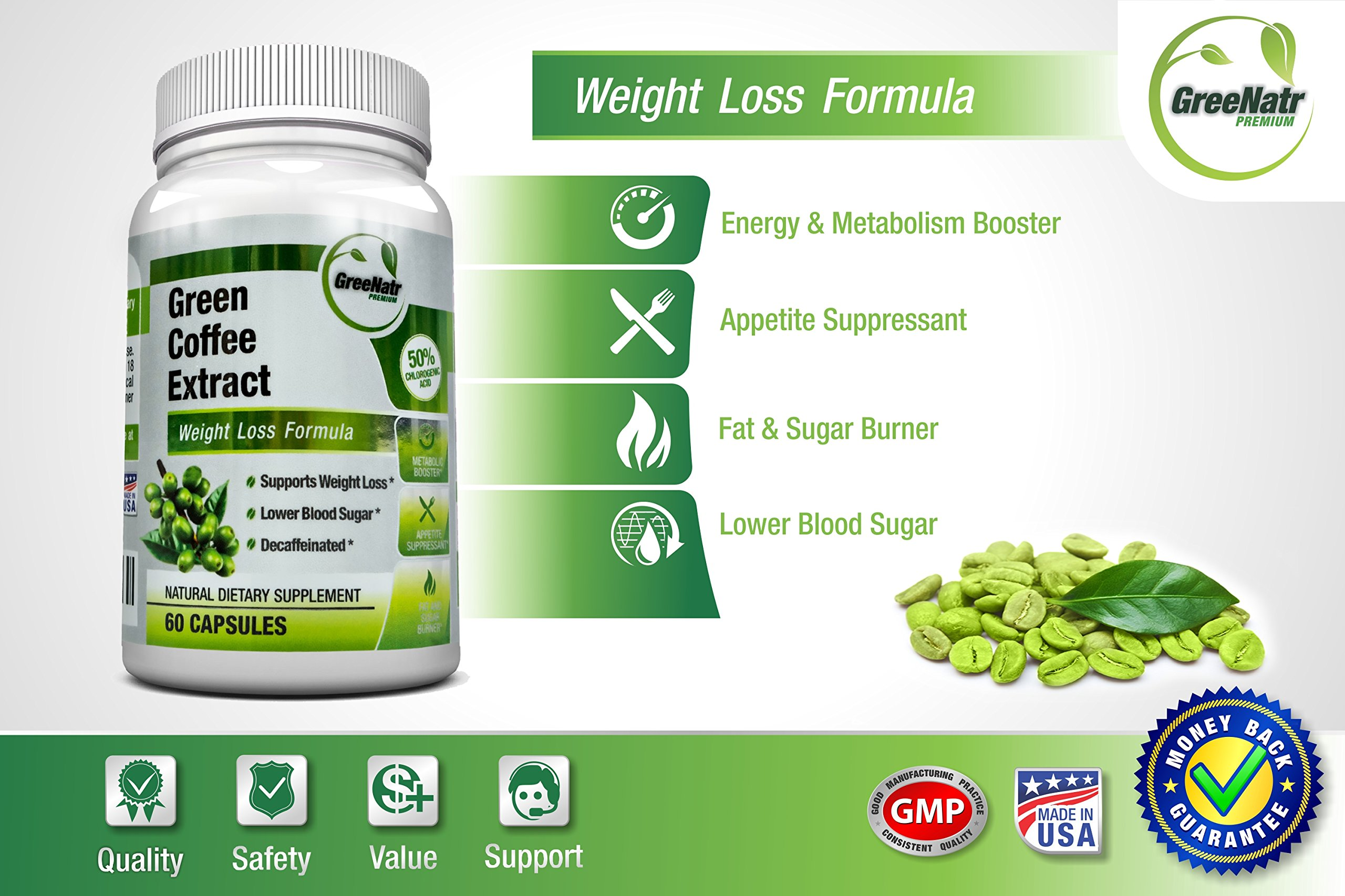 Pure Green Coffee Bean Extract + Colon Cleanse Detox Diet - Weight Loss and Detox Bundle - 480 Veggie Capsules - Gluten Free - Non GMO (6 Months Supply) by GreeNatr (Image #6)