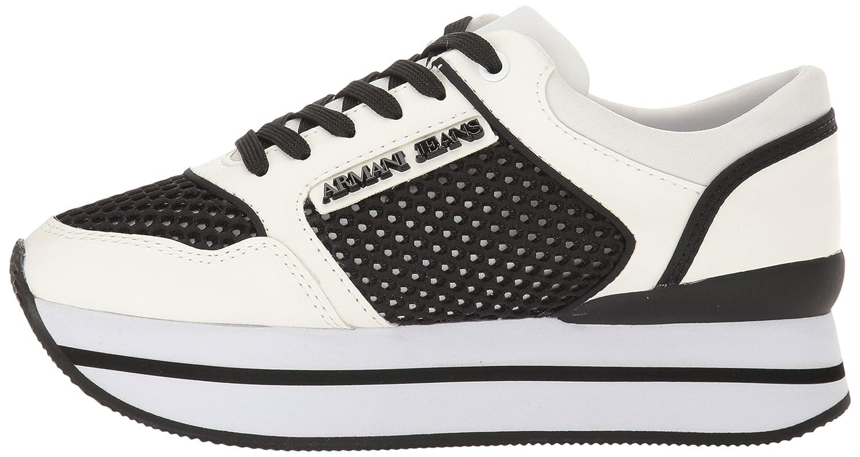 Scarpe Donna ARMANI 925187 7P578 Sneakers Primavera Estate 2017 Bianco nero  36  Amazon.es  Zapatos y complementos e1105d0e782