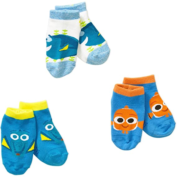 Amazon.com : Finding Dory Toddler Boy or Girl Unisex Quarter Socks, 3-Pack : Sports & Outdoors