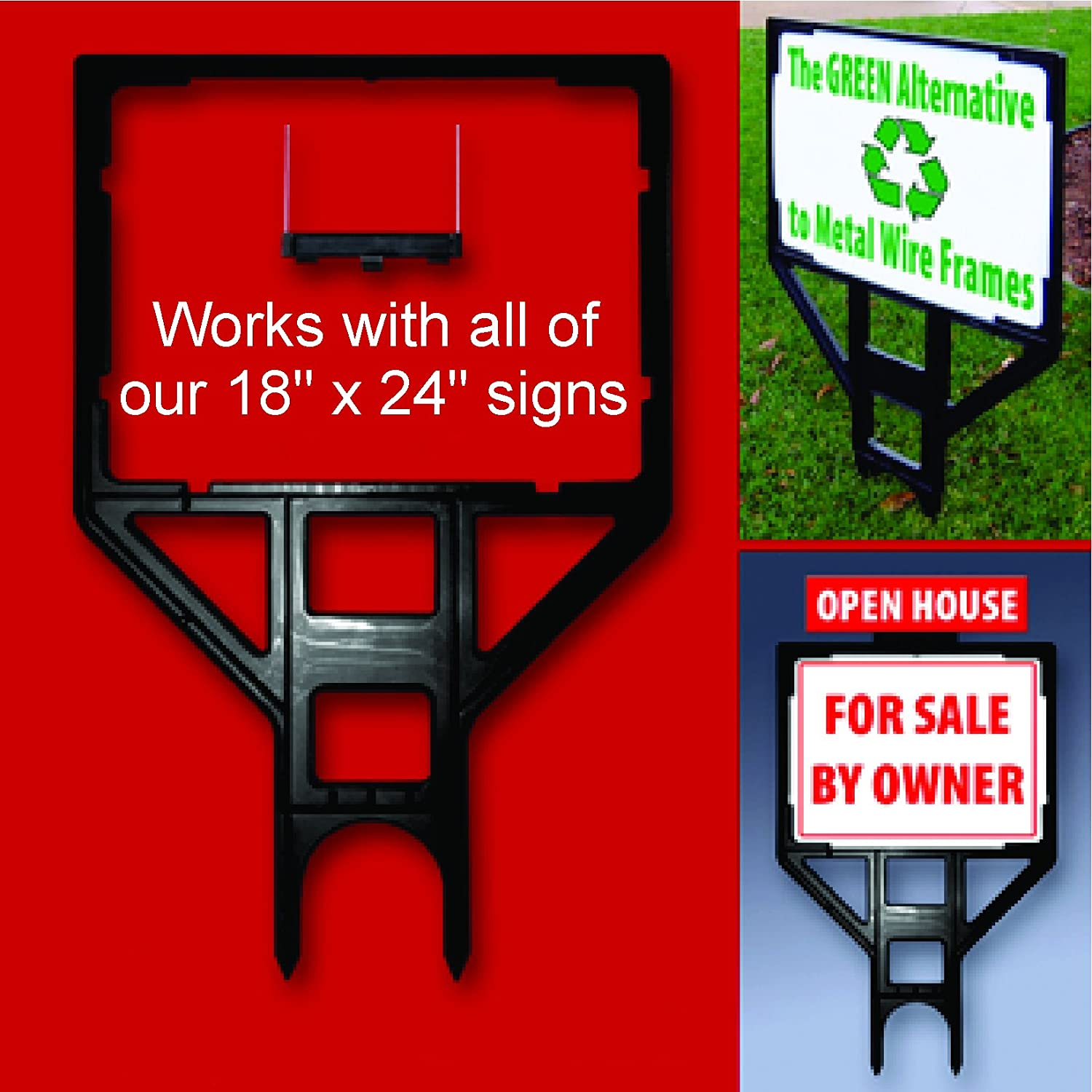 8b02bda8094d Amazon.com   Heavy Duty Real Estate Sign Frame - Professional for Sale Sign  Frame for All of Our 18