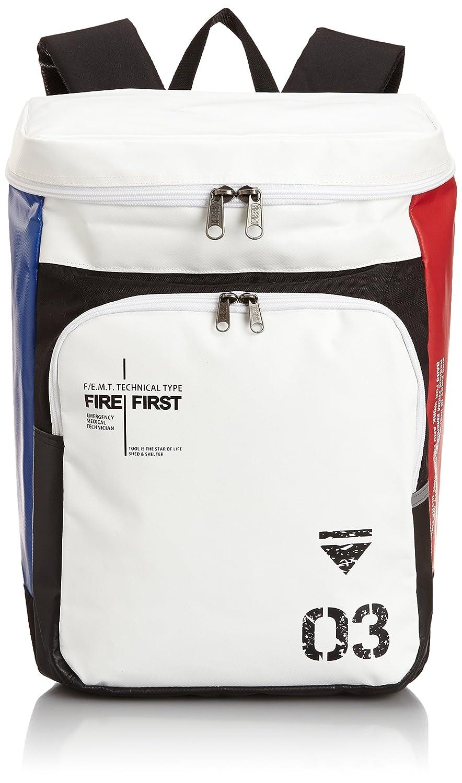 [ファイヤーファースト] FIRE FIRST ファイヤーファーストスクエア型リュック B00MT6WFTM トリコロール トリコロール
