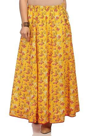 45a03b1da9 Biba Women's Peach Cotton Skirt at Amazon Women's Clothing store: