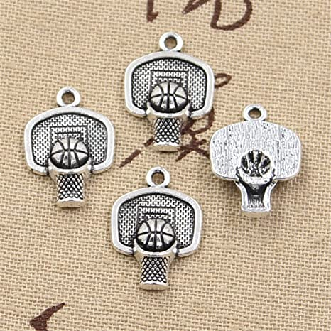 30 colgantes de cesta de baloncesto de 20 x 15 mm, estilo vintage ...