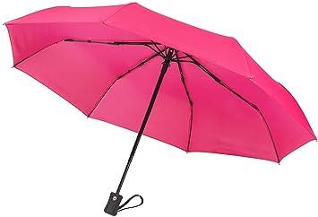 "c69b87704 60 MPH Windproof Travel Umbrellas ""Guaranteed Lifetime Replacement  Program"" Auto Close Auto Open"