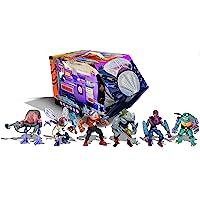 PlayMates Teenage Mutant Ninja Turtles: Retro Villains Mutant Module 6-Piece Action Figure Set, Multicolor