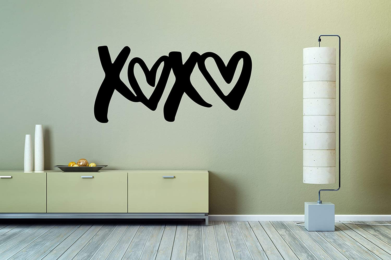 Wall Sticker Xoxo Love Heart Couple Date Romantic Valentine's Day Vinyl Mural Decal Art Decor EH2742